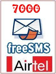 7000 free SMS on airtel
