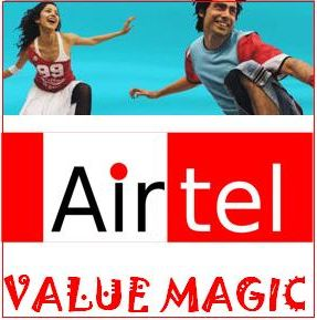 airtel value magic preapid plan and sms pack