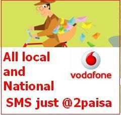 vodafone sms pack all sms at 2paisa