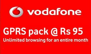 vodafone unlimited gprs at rs.94