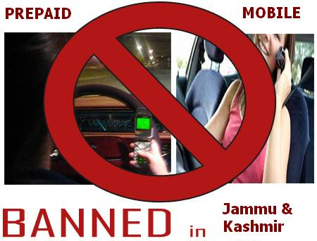 Pre-paid Mobile connections may be banned in J&K