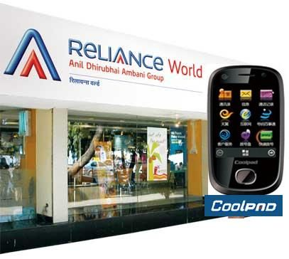 Reliance Mobile,Coolpad In Handset Distribution Tie-up
