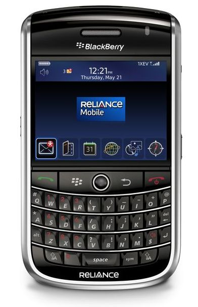 Reliance Mobile ntroduces BlackBerry Tour Smartphone in India