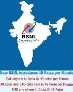 All Local,STD and SMS Just @49p With BSNL Mobile