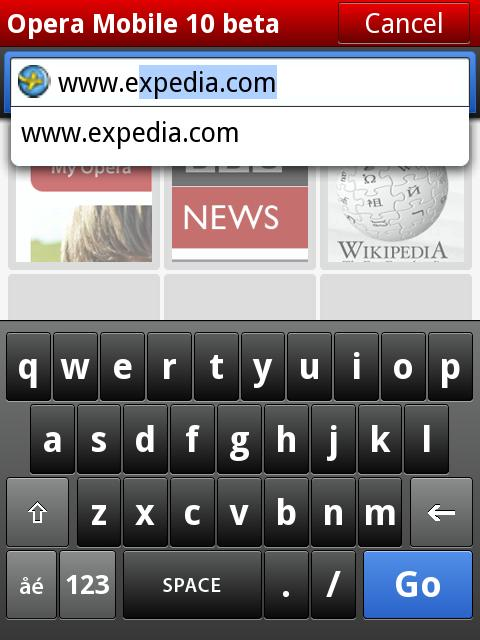 OPERA Mobile 10 Browser Now for Windows Mobile