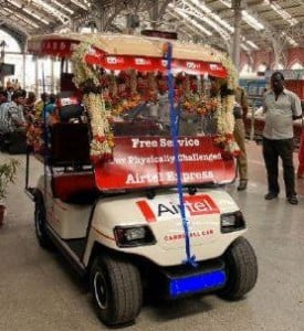 Airtel Launches Battery Operated Carts For Physically Handicapped In Mumbai