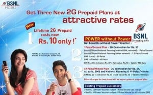 BSNL Life Time Prepaid Now Cost Rs.10