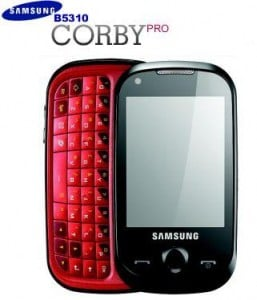 Samsung Mobile Intruduces Corby Plus and Corby Pro In India