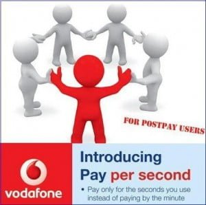 Vodafone Pay Per Second Now On Postpaid