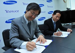 Yahoo And Samsung Take Their Global Alliance To The Mobile Platofrm