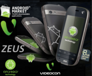 Videocon Mobile Launches Its First Android Phone Zeus