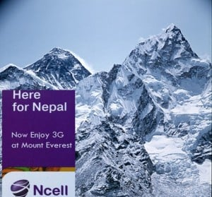 Now Enjoy 3G Broadband and Video Callings At the Peak of Everest
