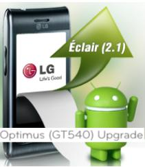 LG Mobile pumps in Eclair 2.1 update for Optimus GT 540