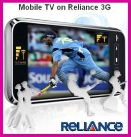 Reliance Launches FREE Mobile TV Offer for 3G Subscribers