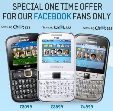Samsung Showers Special Offer With Chat Phones