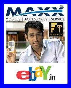 MAXX Mobile Auction Handsets Autographed by MS Dhoni For Charity