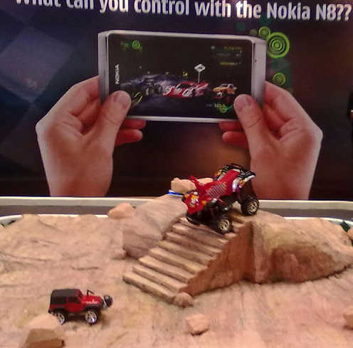 Nokia N8 can Drive the Cars Remotely