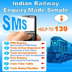 SMS Keywords of Train Related Enquiries Now On 139 Rail Sampark