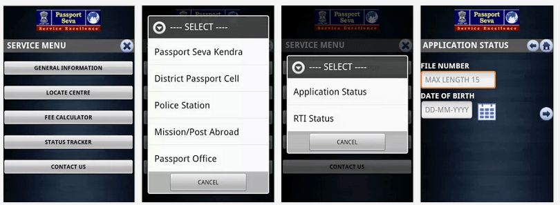 MPassport Seva  android-app