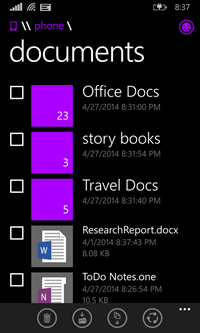 Windows Phone 8.1 File Manager 1