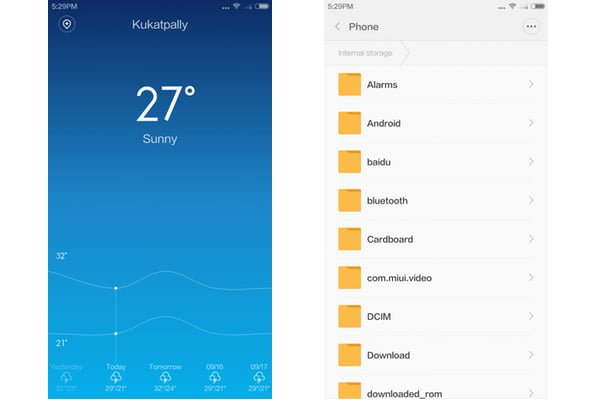 Xiaomi Mi 4 - Screenshot - Weather & File Manager