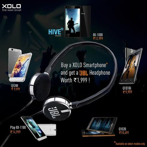 Xolo Smartphones Free JBL Headphones Offer