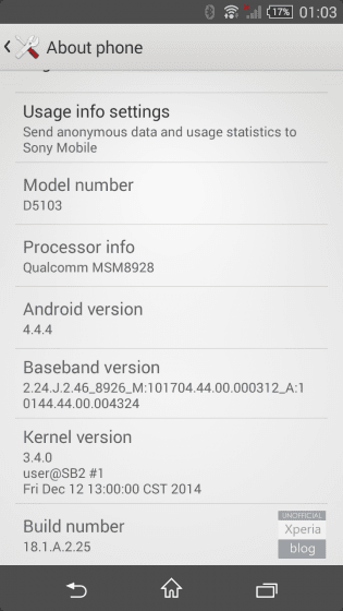 Sony Xperia T3 Android 4.4.4 KitKat Update