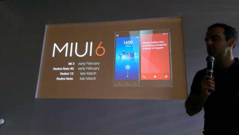 MIUI 6 For Xiaomi Devices In India