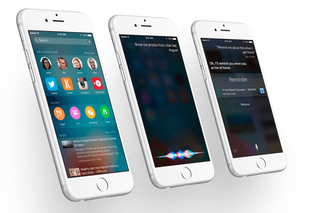 Apple iOS 9 Siri New Features