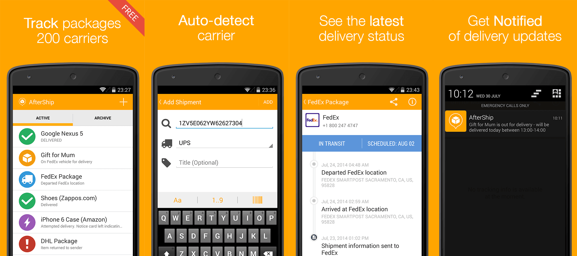 Best Package Tracking Apps - AfterShip For Android