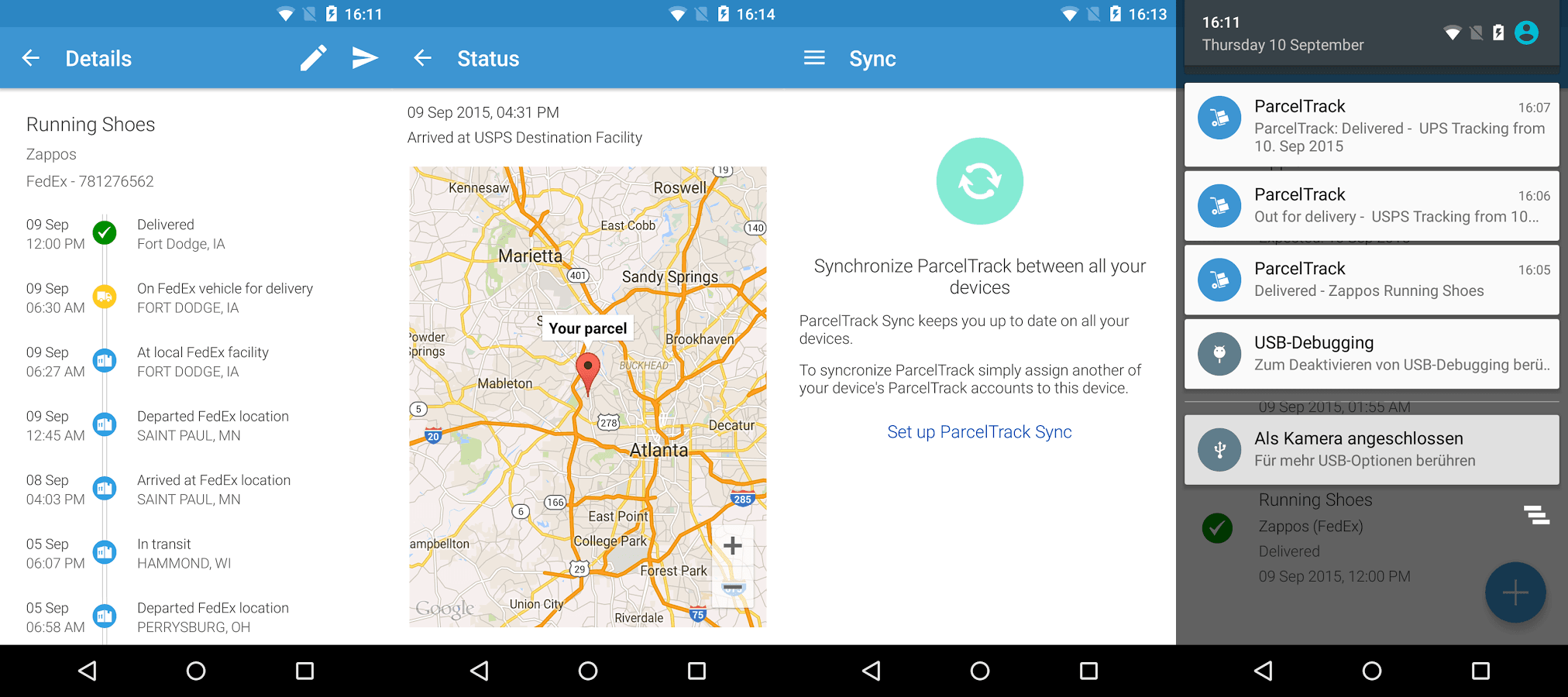 Best Package Tracking Apps - ParcelTrack For Android