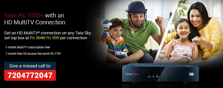 DTH India services from Tata Sky DTH Digital TV service DTH service