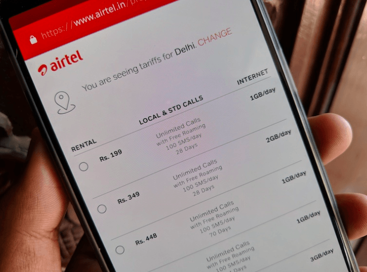 Airtel Rs 199 Unlimited Combo Plan