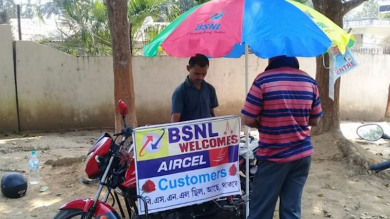 bsnl-subscribers-march