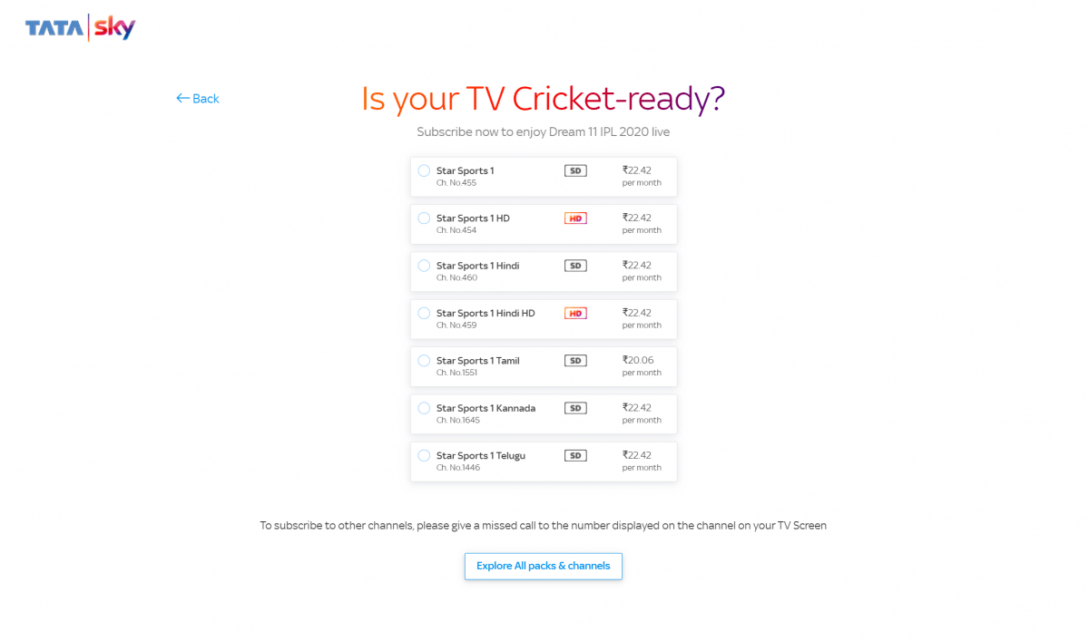 Tata Sky now offers simpler way to subscribe to select Star Sports 1 channels