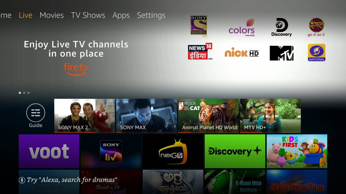 Live TV content now available on Fire TV in India
