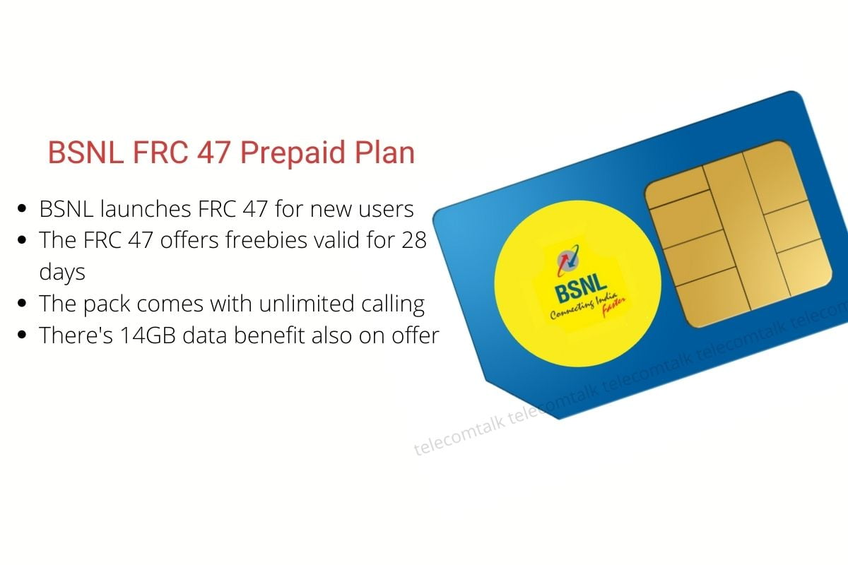 BSNL FRC 47 Prepaid Plan for New Users