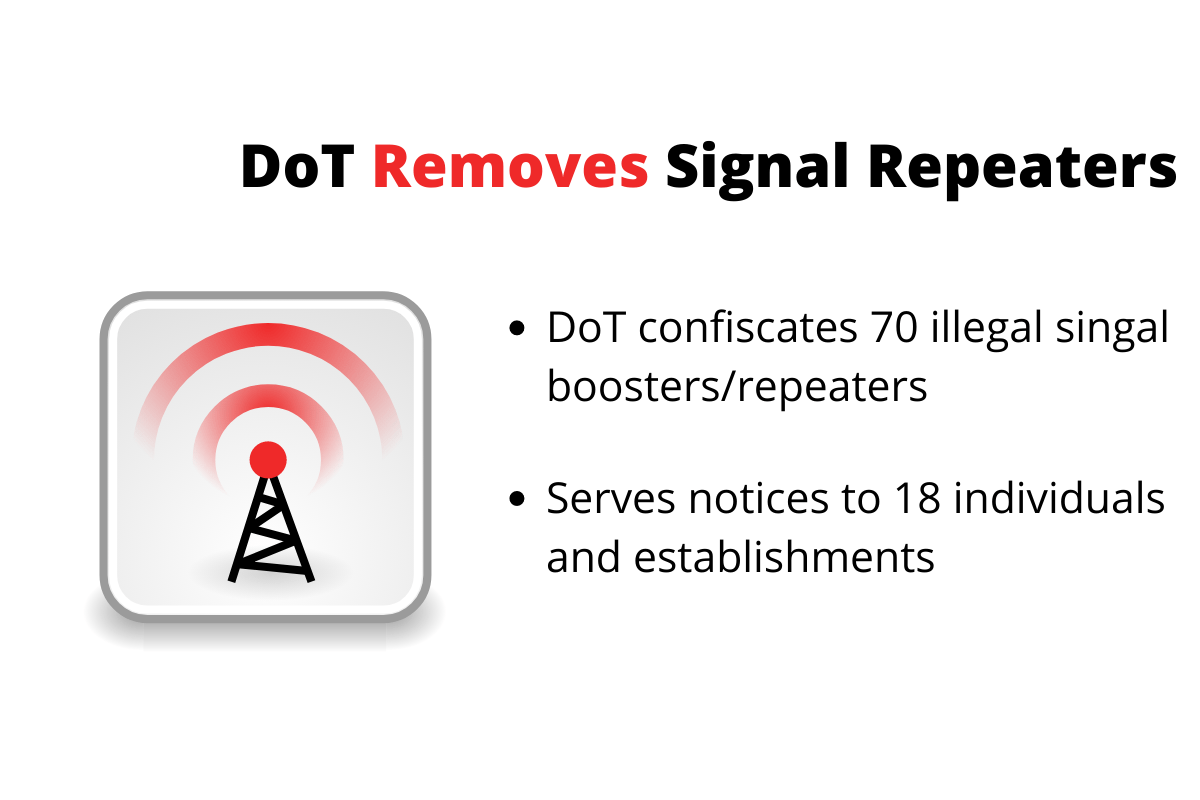 dot-confiscates-70-illegal-signal-repeaters